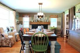 dining room chairs rustic farmhouse with green chair woven shades mixed houzz living 4 hill park