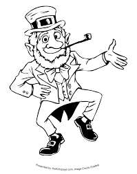 Small Picture Dancing Leprechaun Free Coloring Pages for Kids Printable