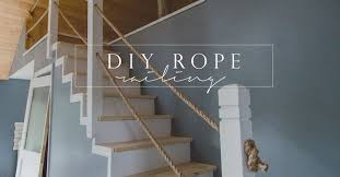 I stumbled across a really cool rope railing idea and thought it was the  perfect match for this space.