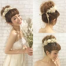 可愛すぎる前髪ありの花嫁ヘアアレンジ特集 Marryマリー