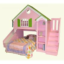 House Bunk Bed Ashley Doll House Bed Home Dollhouse Kids Loft Bed Custom Over