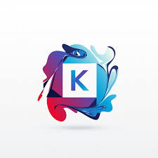 K N Air Filter Size Chart Letter K Logo With Abstract Shapes Vector Free Download