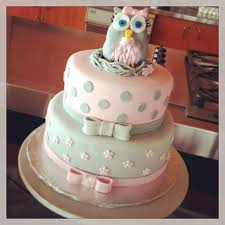 Owl Baby Shower Cake Topper  Adorable Owl Baby Shower Ideas With Owl Baby Shower Cakes For A Girl