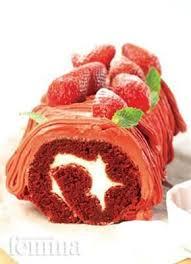Bolu Gulung Red Velvet Femina Rolády Red Velvet Red Dan Bolu Cake