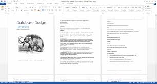 Word Document Template Design Database Design Document Template Technical Writing Tools