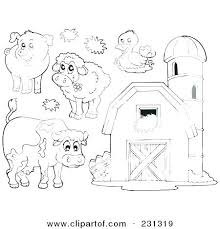Barn Animals Coloring Pages Farm Coloring Pages Free Printable Farm