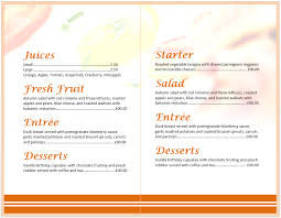 breakfast menu template breakfast menu templateformat template selimtd