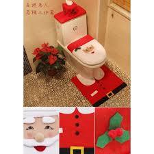 3pcs decorations happy santa toilet seat cover sets intl philippines