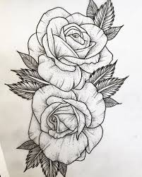 Rose Tattoo Clipart Drawing Free Clipart On Dumielauxepices Net