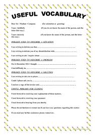 writing a complaint letter worksheet esl printable  writing a complaint letter full screen
