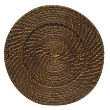 charger plates decorative: the jay companies quot round chestnut rattan charger plate