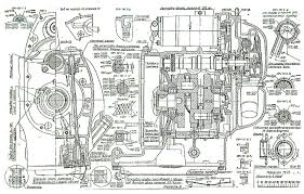 chang jiang internal cross section and head on views of the engine