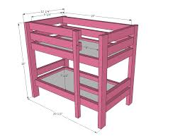 Ana White | Doll Bunk Beds for American Girl Doll and 18