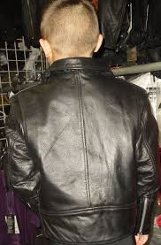 kids boys girls motorcycle leather jacket the classic 69 select the size