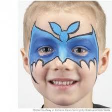 y bat face painting instructions