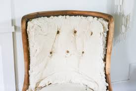 how to reupholster an antique chair start to finish including tufting