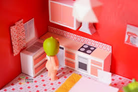 Paper furniture for dollhouses