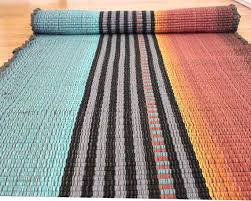 rag rug runner cotton rag rug runner teal and rust throw by rag rug runner canada