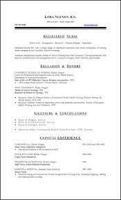 Resume Sample For New Nurses Lpn Nursing Resumes Examples Registered