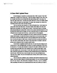 a clean well lighted place a level english marked by teachers com page 1 zoom in