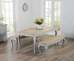 shabby chic dining sets. Parisian 175cm Grey Shabby Chic Dining Table With Benches Sets