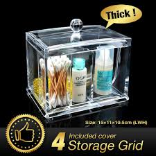 49 off acrylic makeup organizer clear makeup lipstick cotton pad cosmetic display storage rack holder organiser eqc363 in storage bo bins from
