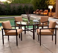 9 salona contemporary patio dining set from the joe ruggiero collection by woodard