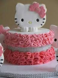 Pretty And Simple Love These Cakes In 2019 Hello Kitty Cake