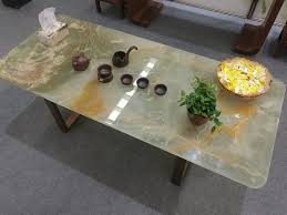 backlit onyx table tops dining coffee