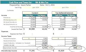 Simple Cash Flows Cash Flow Statement Template Excel Simple Example Projected