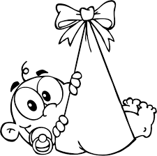 Small Picture Stork With Baby Coloring Pages Coloring Pages