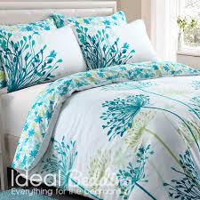 meadow teal fl duvet quilt bedding cover and pillowcase bedding set duvet sets complete bedding sets bed sheets pillowcase