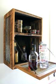 wall liquor cabinet rustic hanging liquor cabinet bar by