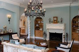 Mediterranean Living Room Decor Great Traditional Loveseats And Teak Table Under Chandelier For