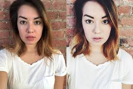 10 before after so look my point here is to do your makeup