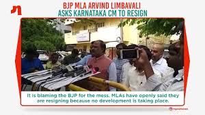 Karnataka Coalition Crisis Bjp Mla Arvind Limbavali Demands Cm
