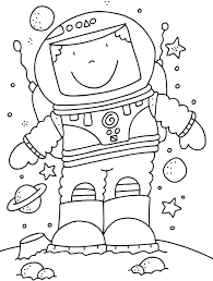 Small Picture astronaut coloring pages Google Search Space Pinterest
