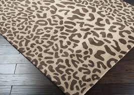 leopard print throw rug rugs pillows wall decor lighting accent furniture throws bedding animal area 8x10 hand knotted leopard rug 8x10