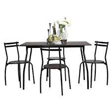 image unavailable image not available for color coavas 5pcs dining table set kitchen rectangle dining table with 4 round dining chair