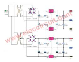 5v And 12v Power Supply Design 3 Multi Voltage Power Supply Circuit Electronics Projects