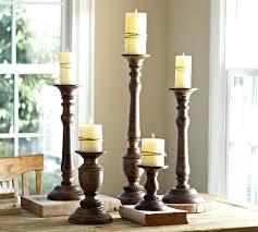 tall wooden candle holders black diy lisacintosh
