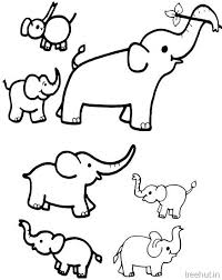 Small Picture Elephant Coloring Pages Printable