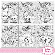 Small Picture 6 Shopkins coloring sheets Instant download PDF Birthday