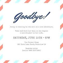 Free Farewell Card Template Inspiration Sample Going Away Party Invitation Farewell Flyer Invitations