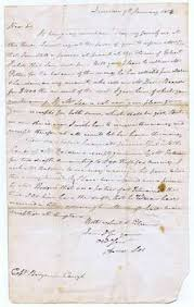 Letter from Amos Lee in Queenston to Captain Benjamin Carryl in New York:  Prisoner at Gilbert Fields House- January 9, 1814,: 1812 History