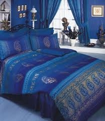 asian indian kashmir navy blue purple gold king size bed duvet cover bedding set superior quality 68 pick fabric co uk kitchen home