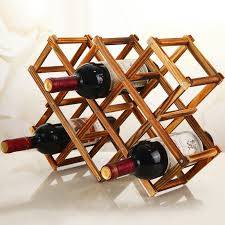 Beer Box Decorations Practical Folding wood wine rack wine bottle holder Storage 41