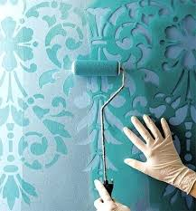 diy bedroom wall paint ideas consider stenciling painted walls to add  character to the space diy . diy bedroom wall paint ideas ...