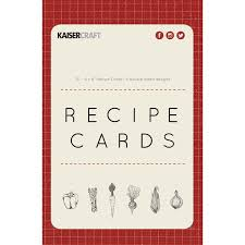 Where To Buy Recipe Cards In Stores Kaisercraft Bon Appetit Collection Recipe Cards