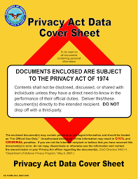 privacy act data cover sheet for mailing pii info frg forms privacy act data cover sheet for mailing pii info